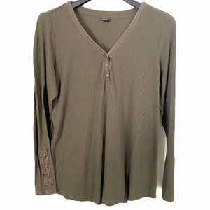 Torrid Olive Green Long Sleeve Top